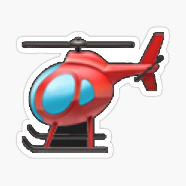 TikTok Helicopter Sticker