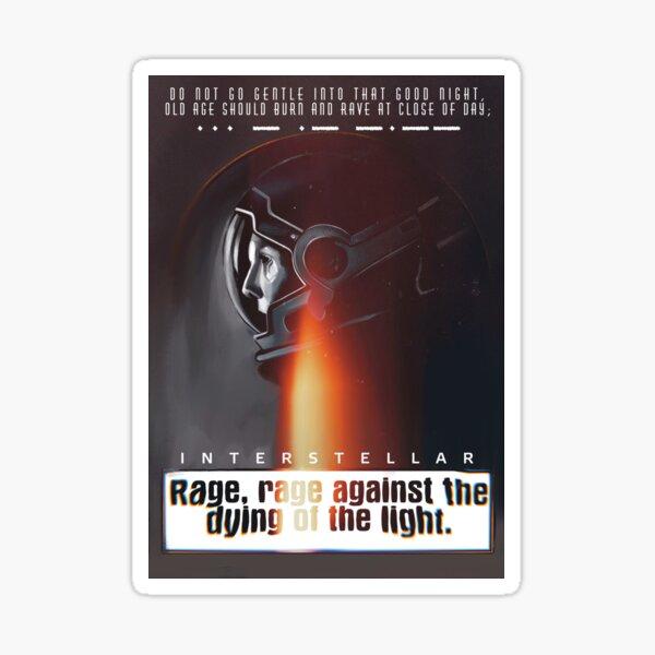 Interstellar poster poetry  Sticker