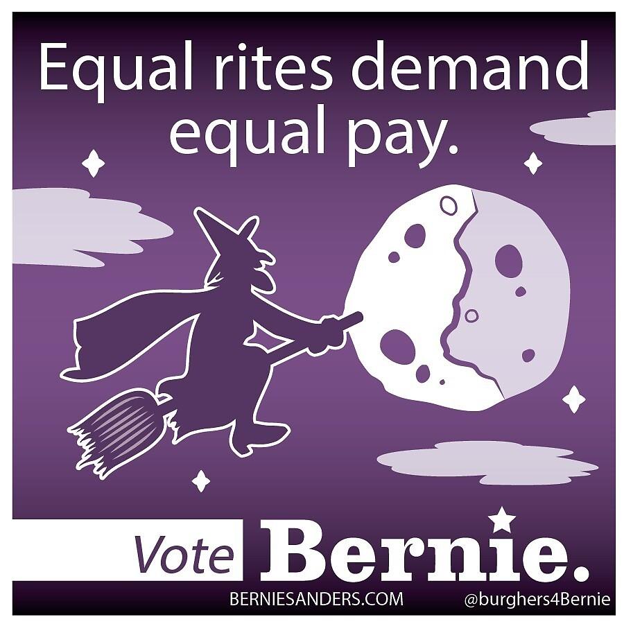 Bernie Halloween Sticker Equal Rites by burghers4bernie