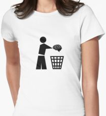 BIN YOUR BRAINS Womens Fitted T-Shirt