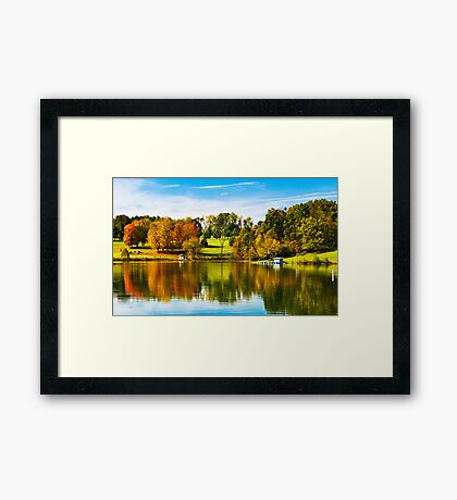 Steele Creek Autumn Reflections Framed Print