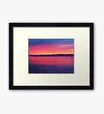 Rouge Dawn Framed Print