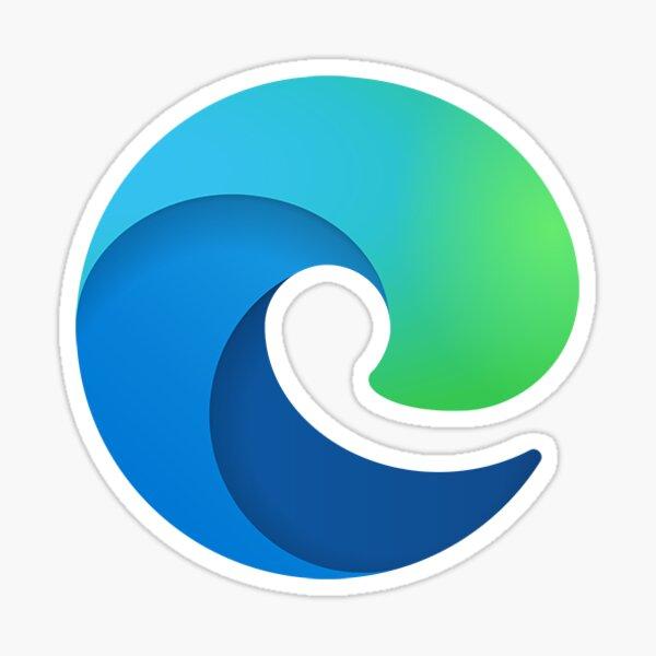 New Edge Browser Logo Sticker Sticker