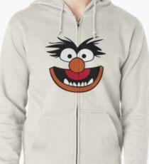 Animal Muppet (Orange Lips&Nose) Zipped Hoodie