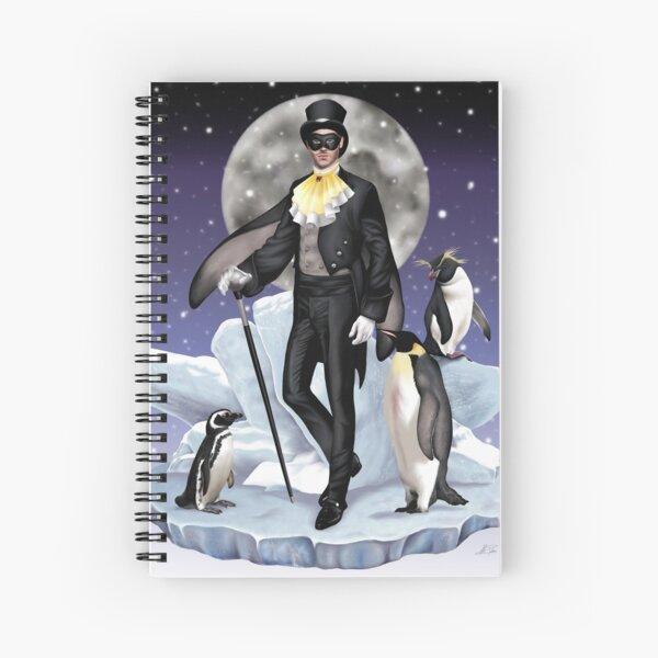 Penguin Suit Magical Magician Antarctic Fairy Man Spiral Notebook
