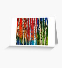 Painted Autumn Birch Trees Greeting Card
