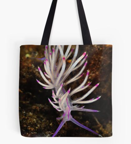 Red Lined Flabellina Tote Bag