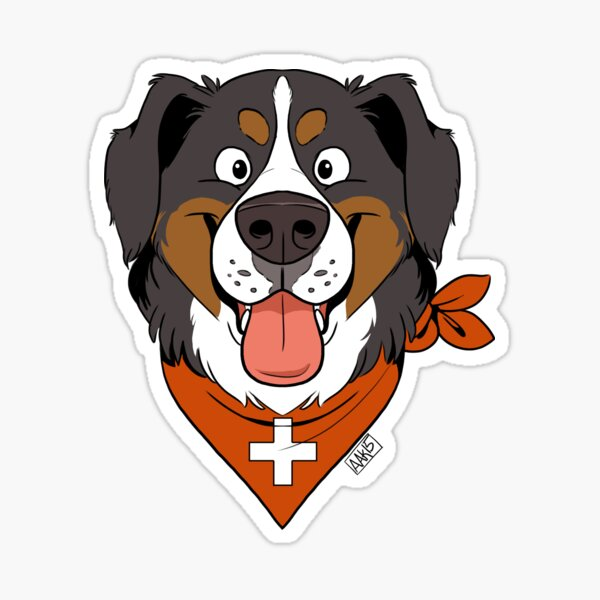 Fluffy Berner Sticker