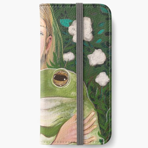 girl and a frog iPhone Wallet
