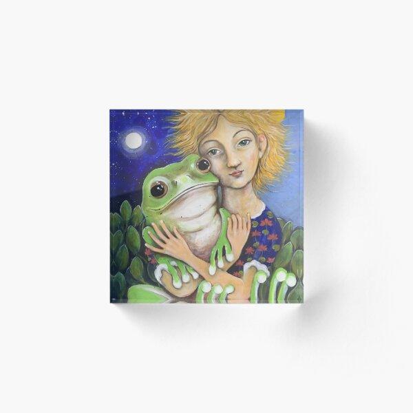 frog and a girl Acrylic Block