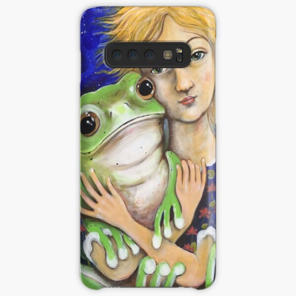 frog and a girl Samsung Galaxy Snap Case