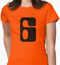 Houston!  Number 6!  Jonathan! Women's Fitted T-Shirt