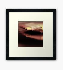 Waiting for a nice and warm sunset... Framed Print