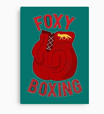 Foxy boxing Canvas Print