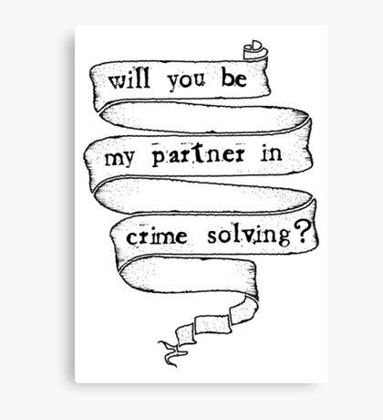 Partner in crime solving Canvas Print