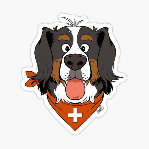 Scruffy Berner Sticker