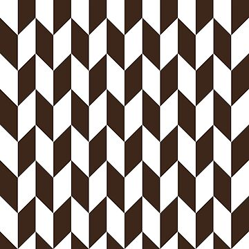 Chocolate Thick Offset Chevrons by ImageNugget