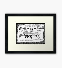 Hi-Tech vs. Low-Tech Feedstock cartoon Framed Print