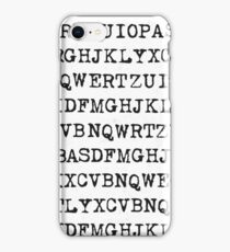 Old typewriter letters iPhone Case/Skin