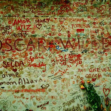 Tomb of Oscar Wilde, Paris France by louisefahy