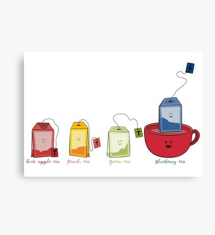 i love tea Canvas Print