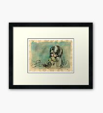 """""""You can play your videogames but please don't leave me"""" Framed Print"""
