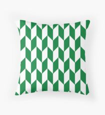 Green Thick Offset Chevrons Throw Pillow