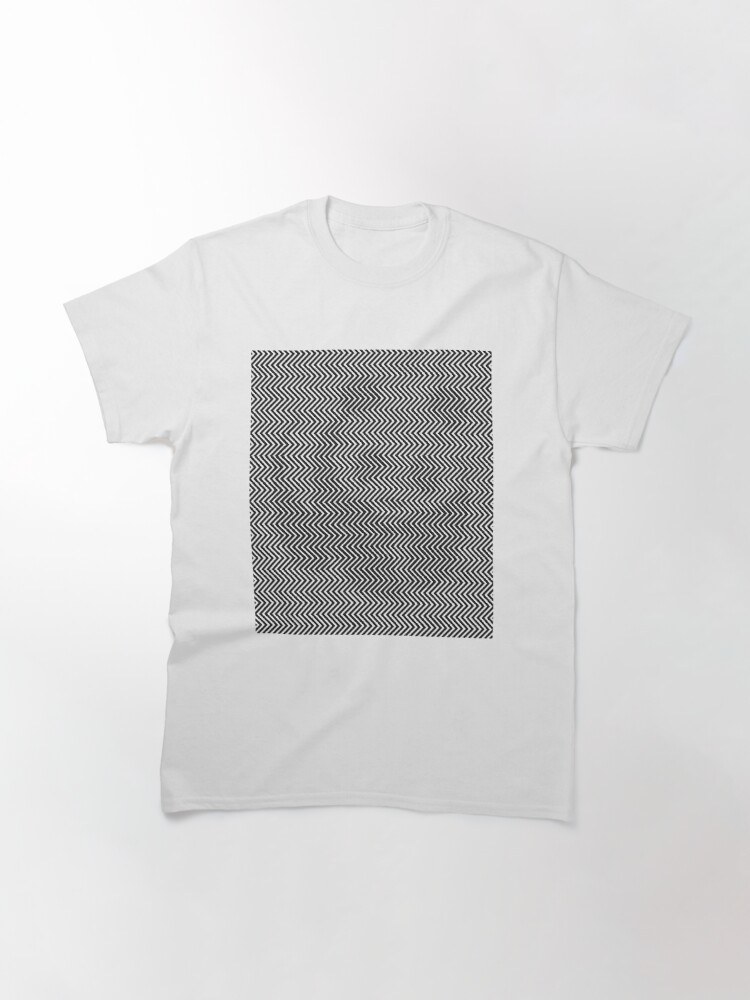 Alternate view of Pattern Zig-Zag Psychedelic Hypnotic Visual Illusion Classic T-Shirt
