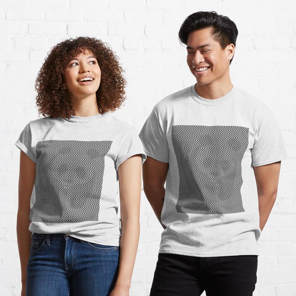 Pattern Zig-Zag Psychedelic Hypnotic Visual Illusion Classic T-Shirt