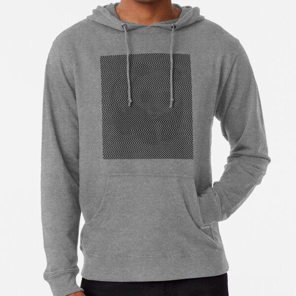 Pattern Zig-Zag Psychedelic Hypnotic Visual Illusion Lightweight Hoodie
