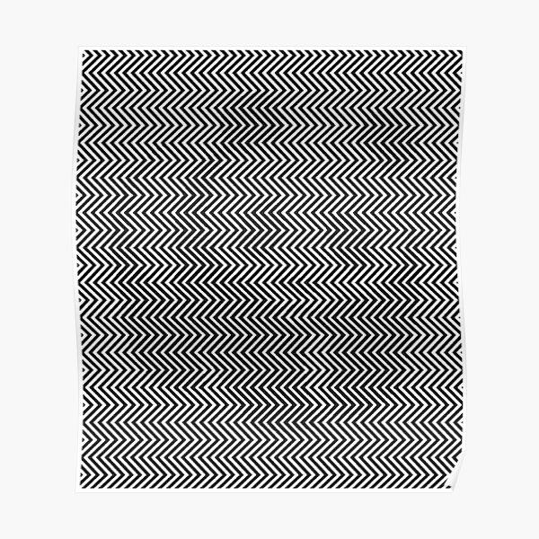 Pattern Zig-Zag Psychedelic Hypnotic Visual Illusion Poster