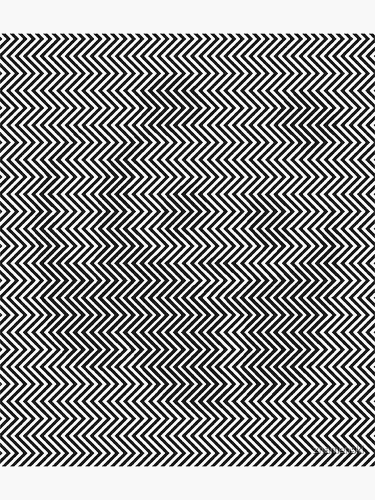 Pattern Zig-Zag Psychedelic Hypnotic Visual Illusion by znamenski