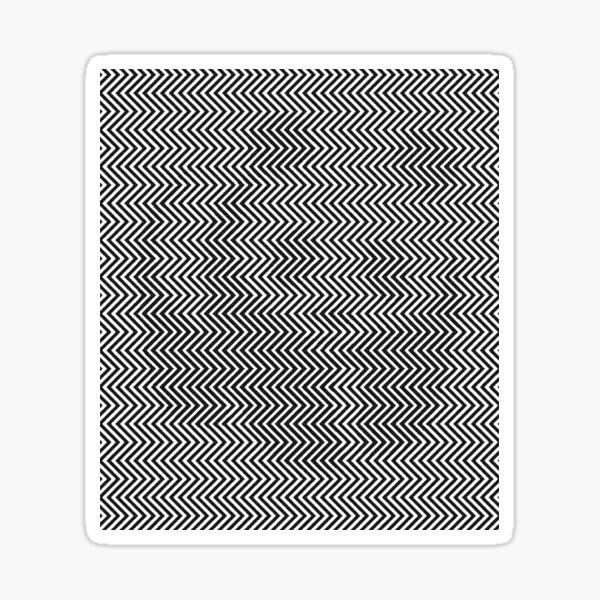 Pattern Zig-Zag Psychedelic Hypnotic Visual Illusion Sticker