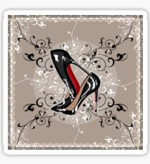 Stacked LOUBOUTIN with delicated LACE & SWIRLS  Sticker