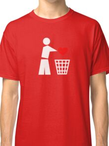 Bin your heart white - red heart Classic T-Shirt