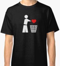 Bin your heart white - red heart Classic T-Shirt