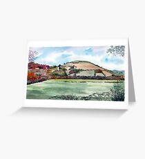 """""""Autumn Knoll"""" - Brent Knoll, Somerset Greeting Card"""