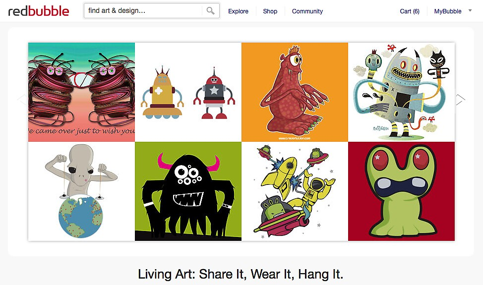 Monsters vs Aliens - 16 October 2011 by The RedBubble Homepage