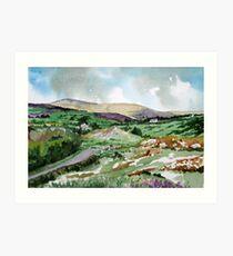 """Mountains & Moors"" - Ballymakeera, County Cork, Ireland Art Print"