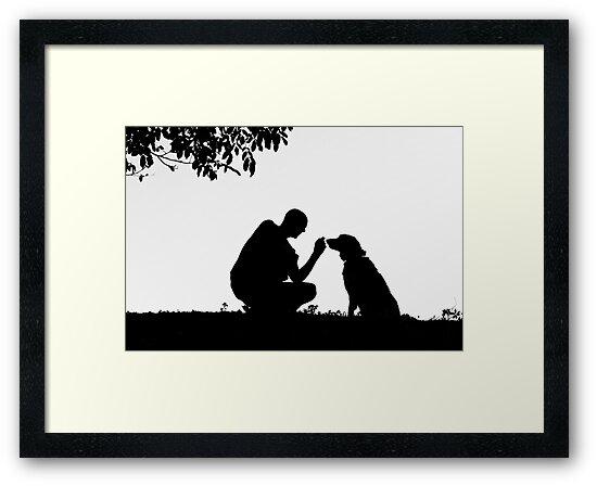 The man and his dog by Karen Havenaar