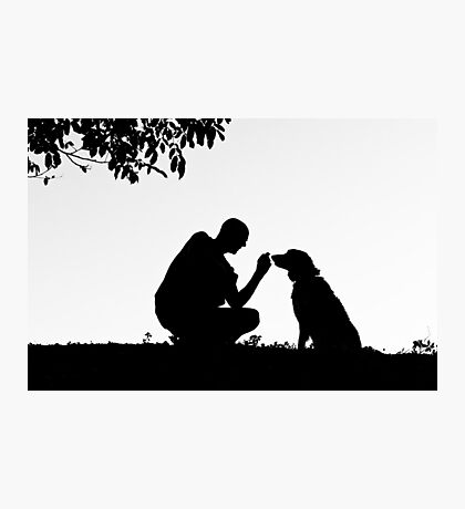 The man and his dog Photographic Print