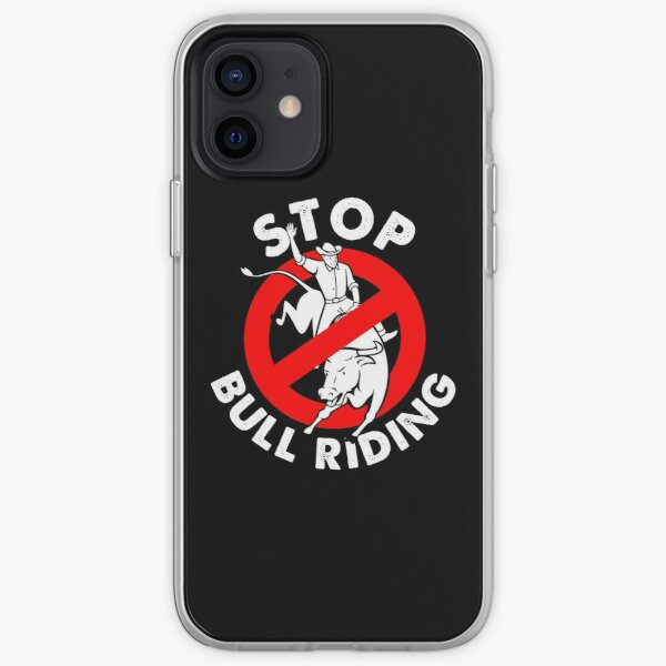 Stop bull riding animal rights and liberaton iPhone Soft Case