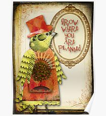Grow Where You Are Planted Poster