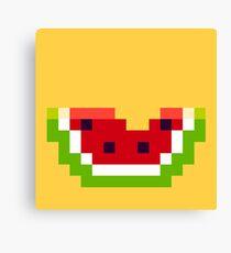 Pixel Watermelon Wall Art Redbubble