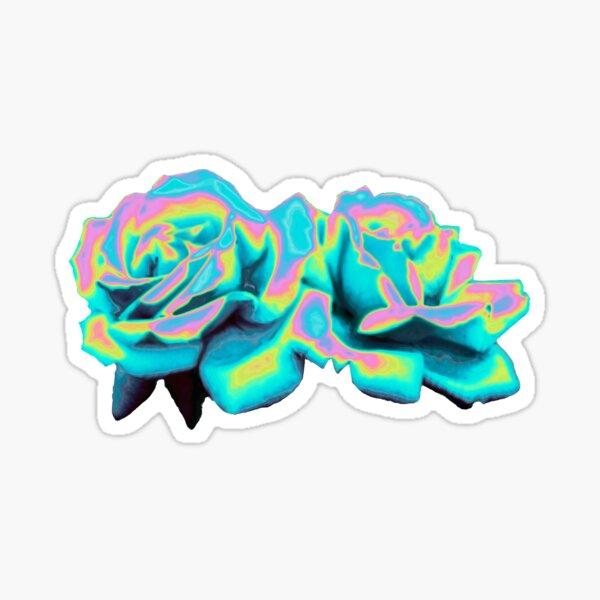 Aqua Rose Pegatina