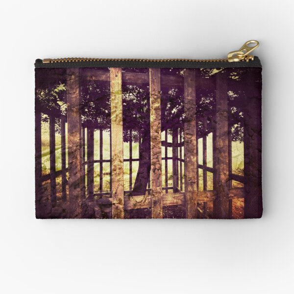 Fenced Tree Vintage Photography Zipper Pouch