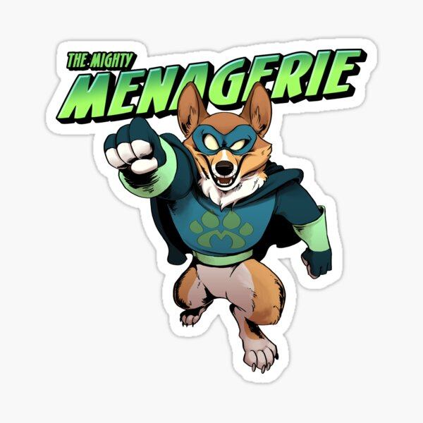 The Mighty Menagerie Sticker