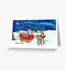Sleigh Ride with Santa Greeting Card