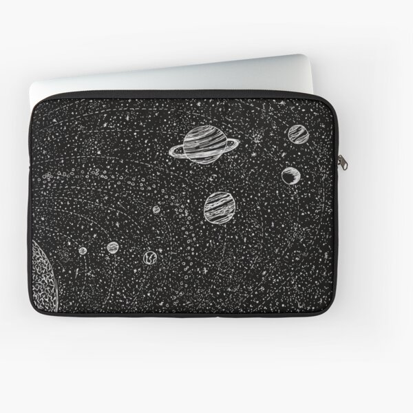 Black Space Laptop Sleeve