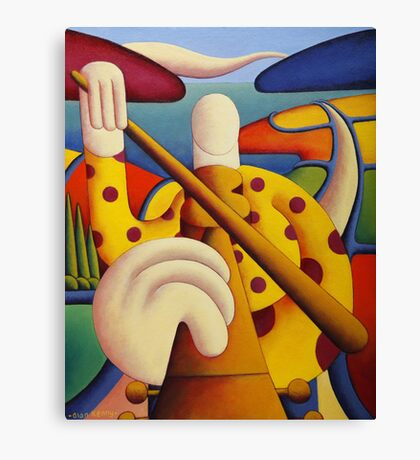 Polka fiddle player in softscape Canvas Print